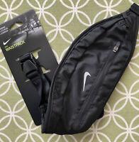 Nike Waistpack Running Waist Fanny Pack Black Belt Bag Unisex NWT!