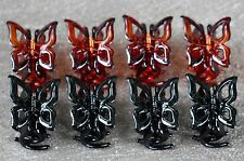 8 Pcs Women BROWN BLACK Butterfly Hair Claw Clip Jaw Clamp Accessory US SELLER