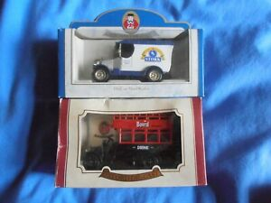 2 x Oxford Diecast models - Stork 75th Anniversary,1995 and a Bovril bus