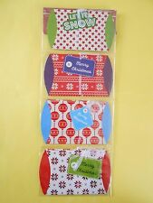 lot 8 pochettes berlingot boite carton 9x7,5 cm noel vert bleu ... cadeaux NEUF