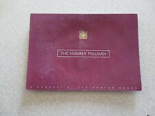 Original 1947 / 1948 Humber Pullman advertising booklet