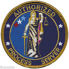 AUTHORIZED PROCESS SERVER POLICE EMBROIDERED PATCH