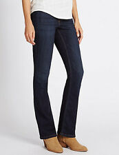 New EX M&S Women's Indigo Collection Slim Boot Stretch Jeans  ref: WMS1