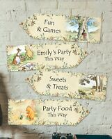 Personalised Winnie the Pooh Arrows - Birthday Christening, Baby Shower, Parties