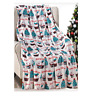 NEW Ultra Cozy & Soft Christmas Holiday Cupcakes White Plush Warm Throw Blanket