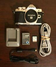 Used Olympus OM-D E-M10 Mark III Mirrorless Digital Camera Body Silver & 16GB