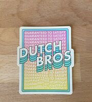 Dutch Bros April 2021 Sticker - Guaranteed to Satisfy Vaporwave Retro Aesthetic
