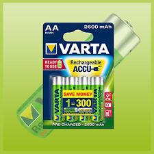 4 pièce. Varta Mignon penlite Batterie Ready2Use 2600 mAh im 4 CLOQUE 4X