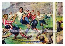 Football Art Imprimé-Spurs V Sheffield United 1949