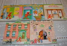 Sesame Street Shape Books Board Chunky Lot of 5 Cookie Monster Oscar Bert Ernie
