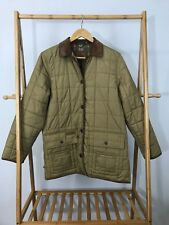 Lauren RL Women's Equestrian Insulated Quilted Flannel Leather Trim Jacket Sz S