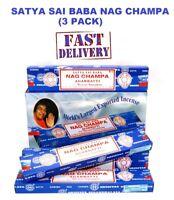 3Packs Original Satya SaiBaba Nag Champa Incense Sticks Joss Insence Genuine New