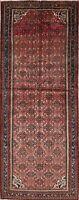 Vintage Hamadan Runner Wool Rug Handmade Geometric Oriental 4x10 Carpet