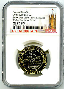2021 GREAT BRITAIN 2PD SIR WALTER SCOTT NGC MS67 DPL FIRST RELEASES RARE