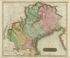 """Venetian States"". Republic of Venice, Italy. Friuli & Veneto. THOMSON 1817 map"