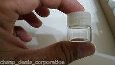 "24X Tiny Small TRAVEL Storage Clear Bottles Glass Mini Jars 1"" Vials 23x25 CLEAR"