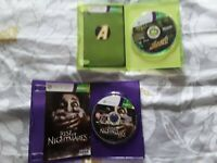 Small Xbox 360 Games Bundle kinect adventures and rise of nightmares games