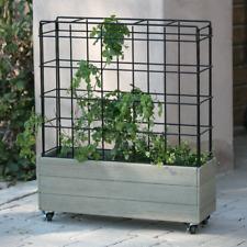 Tomato Trellis Garden On Wheels Planter Box Rolling Bed Climbing Plants Outdoor