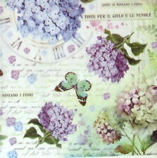 Rice paper -Butterfly and Hydrangea- for Decoupage, Scrapbook Sheet
