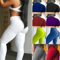 Women High Waist Ruched Push Up Yoga Leggings Anti Cellulite Gym Stretch Shorts
