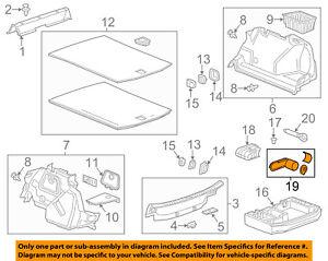 Cadillac GM OEM 16-18 ATS Interior-Rear-Sealer 23315606