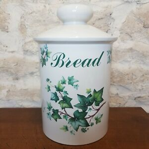 Vintage Bread Bin Melba Ceramic Kitchen Ware Staffordshire Pottery Retro Kitsch