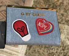 NWT G By Guess Small Wallet/ Card Case Denim Everly