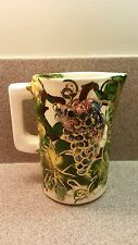 LAGUNA CALIFORNIA HAND THROWN & PAINTED ABSTRACT GRAPE DESIGN PITCHER CALPOTTER