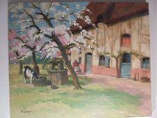 Art Moderne XX HST Paysage Normand Post/Impressioniste Paul ESCHBACH circa 30