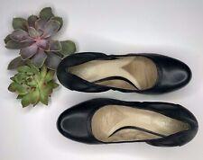 Naturalizer N5 Comfort Pumps Short Heel Size 9.5W Black Slip On Shoes