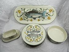 Schönes 9 - teiliges Villeroy & Boch Porzellan Fischservice G. Brownidge London