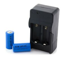 Kingwei 16340 Digital Chargeur +2x 1200 mAh cr123a 3,7 V batteries BRC encore Chargeable
