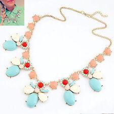 Ovale Modeschmuck-Halsketten & -Anhänger aus Metall-Legierung mit Strass-Perlen
