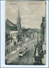 XX005933/ Bischheim Elsaß Landstraße Straßenbahn AK 1915
