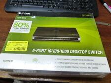 D-LINK  DGS-2208 Qty of 1 per Lot 8-port 10/100/1000 desktop switch **Factory ne