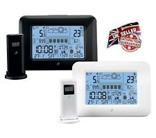 NEW PROFESSIONAL WIRELESS WEATHER STATION RADIO CLOCK BLACK (MADE IN GERMANY)