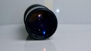 Olympus OM Zuiko MC Auto-T 200mm f/4 Manual Focus Telephoto Lens (EX+)