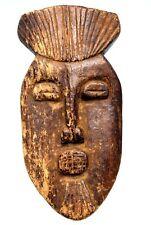 Art Africain Arts Premiers - Masque Passeport Lega - Ex Collection - 19,5 Cms