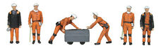 1960/70s Coal Miners (x6) - Bachmann 36-400 - OO painted figures - free post