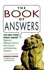 Book of Answers: The New York Public Library Telephone Reference Service'...