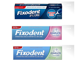 FIXODENT PLUS FOOD  COMPLETE ORIGINAL COMPLETE NEUTRAL  DENTURE ADHESIVE