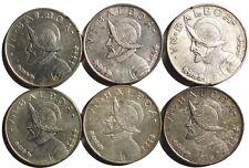 6 Panama Silver Balboas 1947
