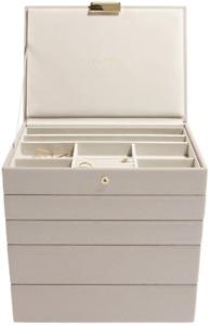 Stackers Taupe Classic Medium Jewellery Box, Set of 5