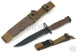 "Ontario Knife OKC3S Khaki Brown USMC Bayonet 8"" Blade and Scabbard 6504 *L@@K!!*"