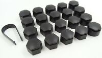 NEW WHEEL NUT COVERS FOR VAUXHALL INSIGNIA A 2010-2017 BOLT CAPS 22mm BLACK TOOL