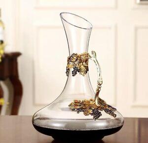 Crystal golden 3D wine Decanter