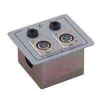 Metal AV Wall Plate with XLR Sockets & 6.35mm Jack Sockets stereo switched