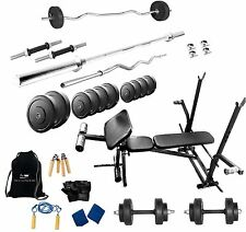 Protoner 62 Kgs + 7 In 1 Bench Weight Lifting Home Gym Fitness Package