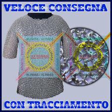 Medievale Rivettata Rotonda Camicia Cotta Di Maglia Di Alluminio ~ Xmas Regalo