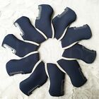 Set Of 10X Neoprene Golf Club Iron Cover Headcovers For Mizuno Taylormade PING